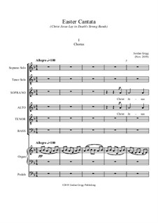 Easter Cantata (Christ Jesus Lay in Death's Strong Bands): Easter Cantata (Christ Jesus Lay in Death's Strong Bands) by Jordan Grigg