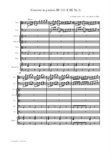 Konzert für zwei Cellos und Streicher in g-Moll, RV 531: Version for viola, cello and strings by Antonio Vivaldi