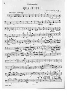 Streichquartett Nr.13 in a-Moll 'Rosamunde', D.804 Op.29: Cellostimme by Franz Schubert