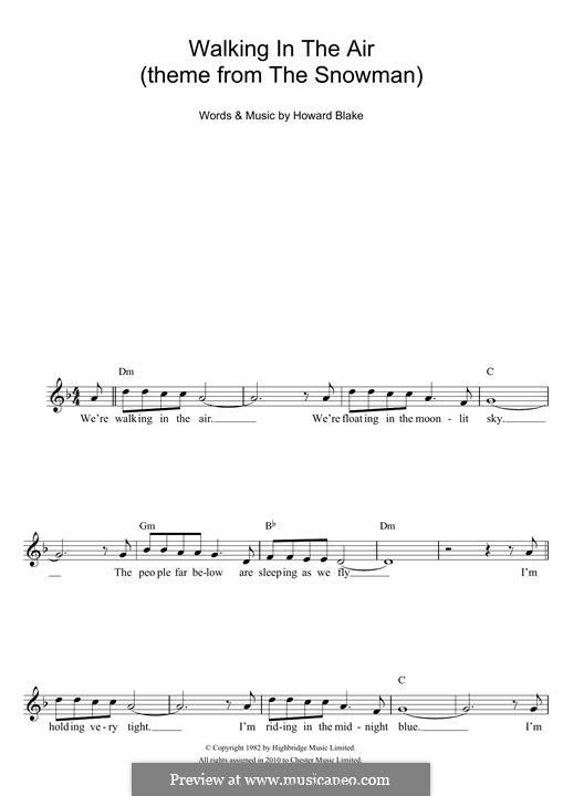 Walking in the Air: Melodische Linie by Howard Blake