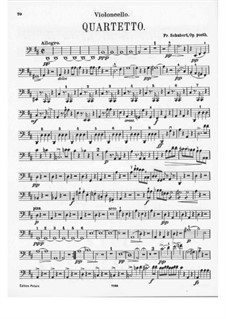 Streichquartett Nr.7 in D-Dur, D.94: Cellostimme by Franz Schubert