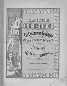 Spanische Liebeslieder, Op.138: Vollsammlung by Robert Schumann