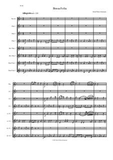 Bossa Folia: For flute octet (or flute choir) by David W Solomons