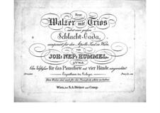 Neue Walzer, Op.91: Für Klavier, vierhändig by Johann Nepomuk Hummel
