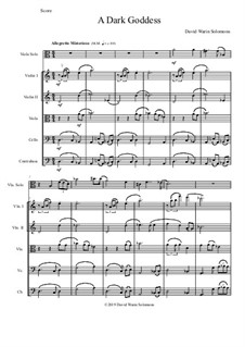 A dark goddess: For viola solo and string orchestra by David W Solomons
