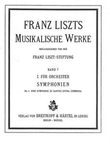 Eine Symphonie zu Dante's Divina Commedia, S.109: Vollpartitur by Franz Liszt