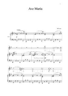 Ave Maria: Für Stimme und Klavier by Giulio Caccini