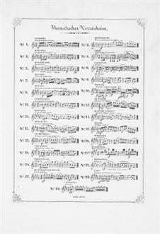 Bunte Reihe, Op.30: Nr.13-24 für Klavier by Ferdinand David