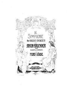 Sinfonie Nr.9 in d-Moll, WAB 109: Bearbeitung für Klavier by Anton Bruckner