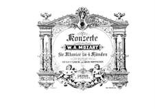 Konzert für Klavier und Orchester Nr.23 in A-Dur, K.488: Bearbeitung für Klavier, vierhändig by Wolfgang Amadeus Mozart