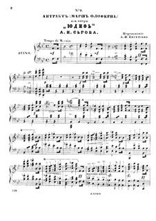 Judith: Akt III. Bearbeitung für Solisten, Chor und Klavier by Alexander Serow