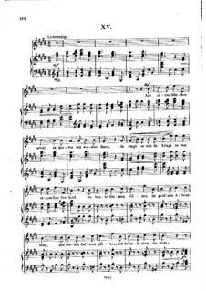 Nr.15 Aus alten Märchen winkt es: Klavierauszug mit Singstimmen by Robert Schumann