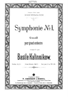 Synfonie Nr.1 in g-Moll: Vollpartitur by Wassili Kalinnikow