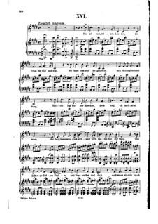 Nr.16 Die alten, bösen Lieder: Klavierauszug mit Singstimmen (auf Deutsch) by Robert Schumann