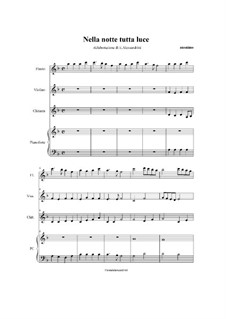 Nella notte tutta luce: For quartet by folklore