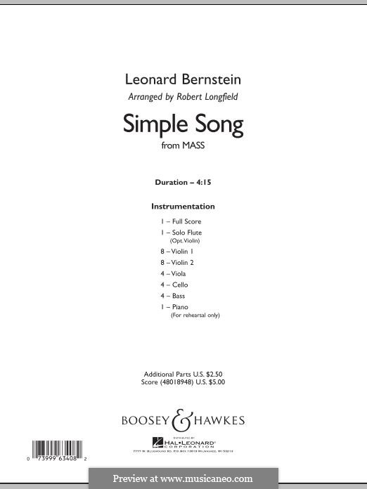 A Simple Song (from Mass): Conductor score (full score) by Leonard Bernstein