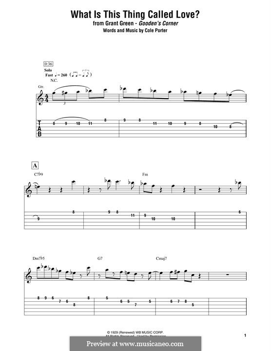What Is This Thing Called Love?: Für Gitarre mit Tabulatur by Cole Porter