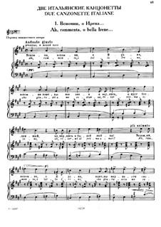 Due canzonette italiane (Two Italian Canzonets): No.1 Ah, rammenta, о bella Irene by Michail Glinka