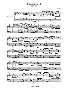 Nr.14 in B-dur, BWV 800: Für Klavier by Johann Sebastian Bach