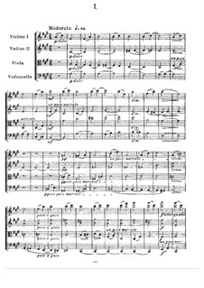 Streichquartett Nr.1 in A-Dur: Vollpartitur by Alexander Porfiryevich Borodin