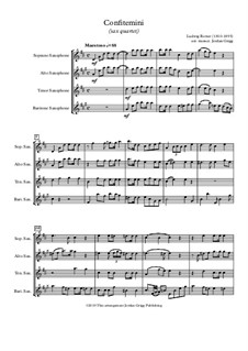 Confitemini (sax quartet): Confitemini (sax quartet) by Ludwig Rotter