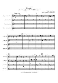 Fugato (from String Quartet No.2 in B flat major): Fugato (from String Quartet No.2 in B flat major) by Franz Xaver Richter