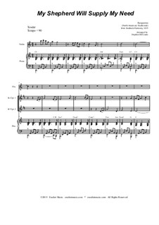 My Shepherd, You Supply My Need: For brass quartet and piano - alternate version by folklore
