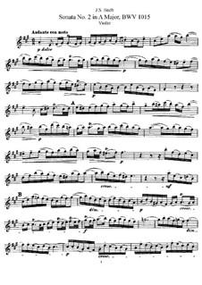 Sonate für Violine und Cembalo Nr.2 in A-Dur, BWV 1015: Solostimme by Johann Sebastian Bach