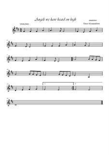 Angels We Have Heard on High: Für Violine und Klavier by folklore