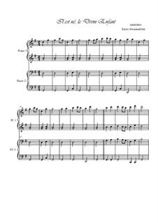He Is Born, the Holy Child (Il est ne, le divin enfant): Für Klavier, vierhändig by folklore