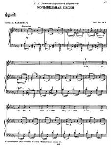 Sechs Romanzen, TH 95 Op.16: No.1 Cradle Song by Pjotr Tschaikowski