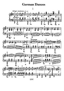 Deutsche Tänze: Für Klavier by Ludwig van Beethoven