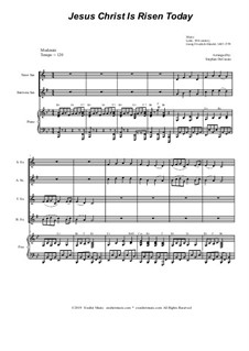 Jesus Christ Is Risen Today: For saxophone quartet and piano by Georg Friedrich Händel, folklore