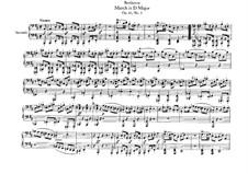 Drei Marschen, Op.45: Marsch in D-Dur, für Klavier, vierhändig by Ludwig van Beethoven