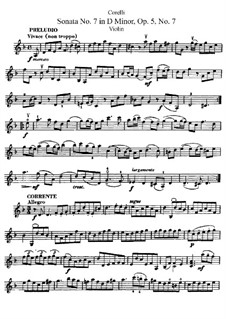 Sonate Nr.7: Solostimme by Arcangelo Corelli
