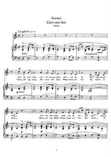 Caro mio ben (O Maiden Dear): Für Singstimme und Klavier (C-Dur) by Tommaso Giordani