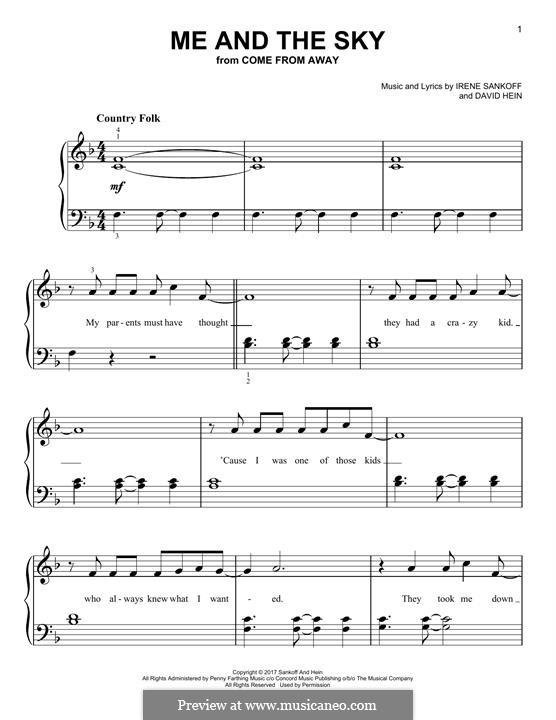 Me and The Sky: Für Klavier by Irene Sankoff, David Hein