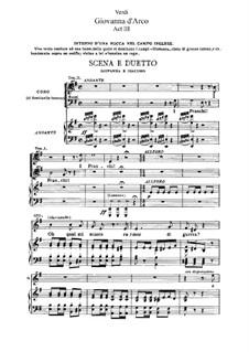 Giovanna d'Arco: Akt III, für Solisten, Chor und Klavier by Giuseppe Verdi