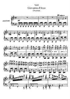Giovanna d'Arco: Prolog, für Solisten, Chor und Klavier by Giuseppe Verdi