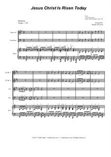 Jesus Christ Is Risen Today: For brass quartet and piano by Georg Friedrich Händel, folklore