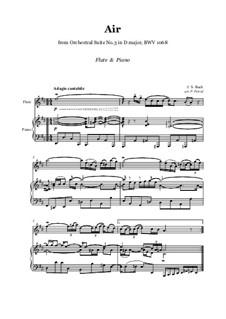 Arie: Version für Flöte und Klavier by Johann Sebastian Bach