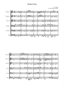 Des Herrn Einzug: For brass band by Georg Friedrich Händel