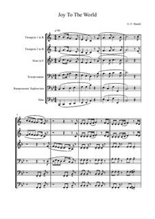 Freue dich Welt: For brass band by Georg Friedrich Händel