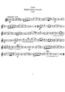Armide, Wq.45: Ballett, für Flöte and Klavier – Solo Stimme by Christoph Willibald Gluck
