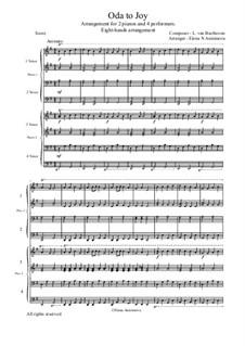 Ode an die Freude: Version für 4 Interpreten by Ludwig van Beethoven