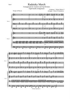 Radetzky-Marsch, Op.228: Für 4 Interpreten und zwei Klaviere by Johann Strauss (Vater)