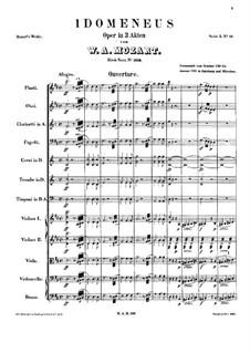Vollständige Oper: Vollpartitur by Wolfgang Amadeus Mozart