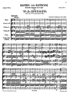 Bastien und Bastienne, K.50: Vollpartitur by Wolfgang Amadeus Mozart