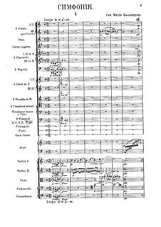 Sinfonie Nr.1 in C-Dur: Vollpartitur by Mily Balakirev