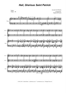 Hail, Glorious Saint Patrick: Duet for soprano and alto saxophone by folklore